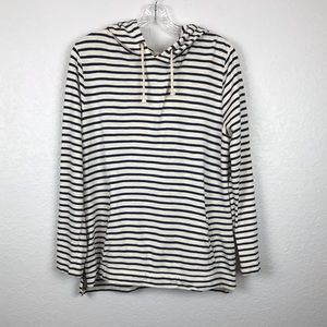 J.Crew  Navy Blue Striped Hoodie Size Medium